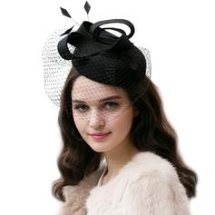 Dames Magnifique/Glamour/Élégante Coton avec Feather/Tulle Chapeaux de type fascinator