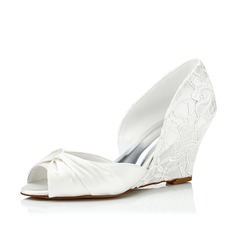 Women's Lace Satin Wedge Heel Wedges With Others