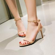 Femmes Similicuir Talon stiletto Sandales Escarpins À bout ouvert Escarpins avec Boucle chaussures