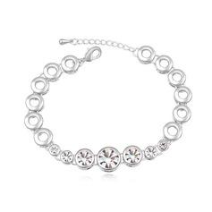 Vackra Och Legering/Platina med Kristall Damer' Armband
