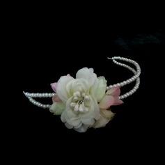 Nydelig Imiterte Perler/Kunstig Silke Pannebånd