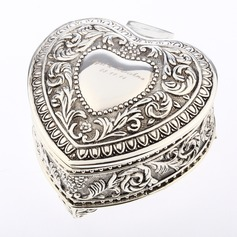Personalized Heart-shaped Zinc Alloy Jewelry Holders