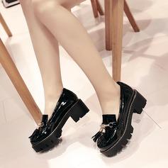 Naisten Keinonahasta Chunky heel Avokkaat Platform Suljettu toe jossa Tupsu kengät