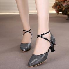 Mulheres Couro Saltos Salão de Baile Sapatos de dança