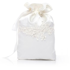 Elegant Satin With Beading/Lace Bridal Purse