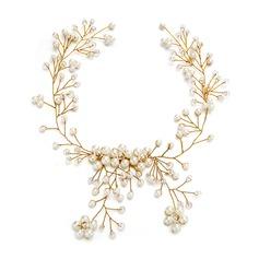 Filles Glamour Cristal/De faux pearl Bandeaux avec Perle Vénitienne/Cristal (Vendu dans une seule pièce)