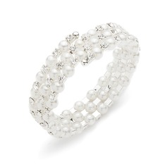 Charming Pearl With Rhinestone Ladies' Bracelets