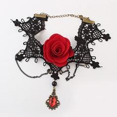Gorgeous Legering med Spetsar Damer' Mode Halsband