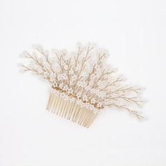 Ladies Elegant Rhinestone/Alloy/Imitation Pearls Combs & Barrettes With Rhinestone