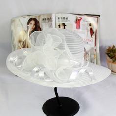 Señoras' Elegante Organdí Disquete Sombrero
