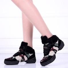 Unisexe Toile Chaussures plates Tennis avec Dentelle Chaussures de danse