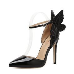 Frauen Kunstleder Stöckel Absatz Absatzschuhe Geschlossene Zehe mit Bowknot Schuhe