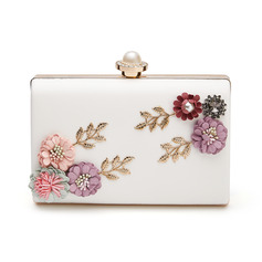 Unique PU With Flower/Imitation Pearl Clutches (012192191)