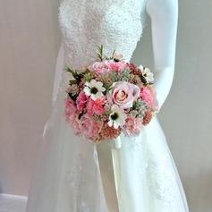 Precioso Satén Ramos de novia/Ramos de la dama de honor -
