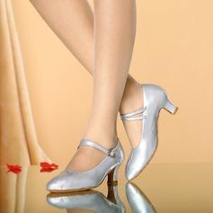 Vrouwen Kunstleer Hakken Pumps Character Shoes met Gesp Dansschoenen