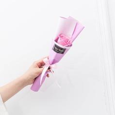 Mão-amarrado Flower Soap Presentes flor (Vendido em uma única peça) -