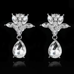 Luminoso Diamantes de imitación Señoras' Pendientes