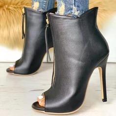 Donna Camoscio Tacco a spillo Stiletto Punta aperta أحذية
