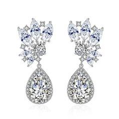 Style Classique Alliage/Zircon de Dames Boucles d'oreilles