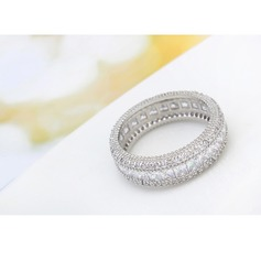 Gorgeous Legering Zirkon koppar Damer' Mode Ringar