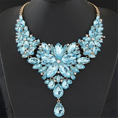 Prachtige Legering Resin met Strass Dames Fashion Ketting