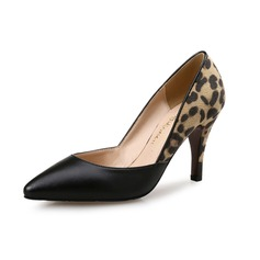 Women's Stiletto Heel Pumps Closed Toe With Animal Print shoes