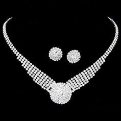Moda Aleación/Diamantes de imitación De mujer Sistemas de la joyería