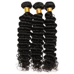 5A Jungfrau / Remy Tief Menschliches Haar Geflecht aus Menschenhaar (Einzelstück verkauft) 100g