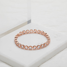 Ladies' Sparking Copper/Cubic Zirconia Cubic Zirconia Bracelets For Bride