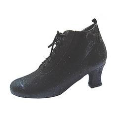 Women's Leatherette Heels Pumps Swing Dance Shoes