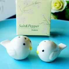 Keramik Salt & Pepparkar (Set av 2)