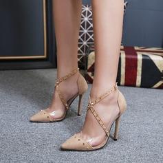 De mujer Ante Tacón stilettos Salón con Rivet Hebilla zapatos