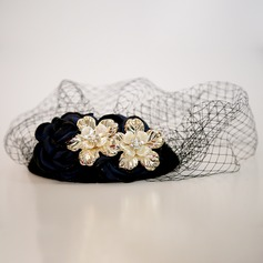 Dames Beau Fil net/Alliage Chapeaux de type fascinator/Chapeaux Tea Party
