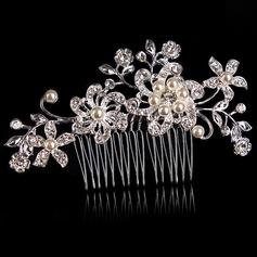 Elegante Aleación/La perla de faux Peines y pasador