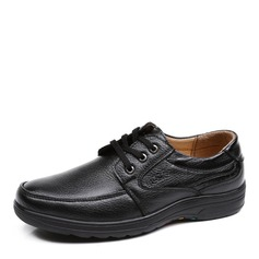 Men's Real Leather Lace-up U-Tip Casual Work Men's Oxfords