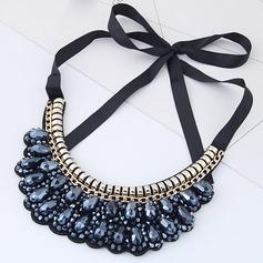 Lysande Legering Akryl Duk Damer' Mode Halsband