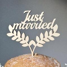 """""""Apenas Casado"""" Acrílico/Madeira Decorações de bolos"""