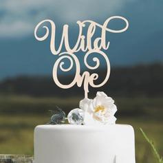 Bursdag/Vill En Akryl/Wood Kake Topper