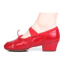 Женщины Натуральня кожа На каблуках Балет Танец живота с бантом Обувь для танцев