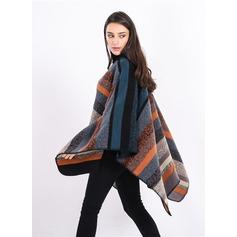 Gestreept te groot/Koud weer Kunstmatige Wool Poncho