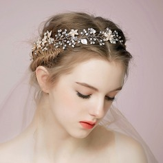 Ladies Glamourous Alloy/Imitation Pearls Headbands With Venetian Pearl