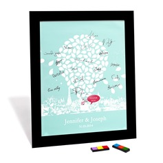 Bride and Groom Design Signature Framed Canvas