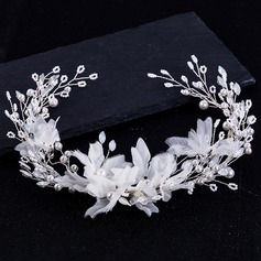 Ladies Glamourous Alloy/Imitation Pearls Headbands With Venetian Pearl (Sold in single piece) (042216810)