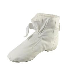 Мужская Холст На плокой подошве Ботинки Джаз Обувь для танцев