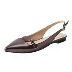 Vrouwen Kunstleer Flat Heel Flats Slingbacks schoenen (086090826)