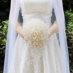Classic Cascade Imitation Pearl Bridal Bouquets (Sold in a single piece) -