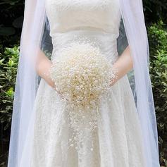 Estilo clásico Cascada Perlas de imitación Ramos de novia (vendido en una sola pieza) -