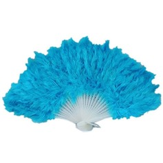Elegant Plastic/Feather Hand fan
