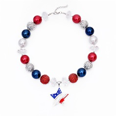 Lovely Alloy Acrylic Girls' Fashion Necklace
