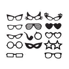 Máscara divertida Esponja Accesorios de fotos del stand (15 piezas)